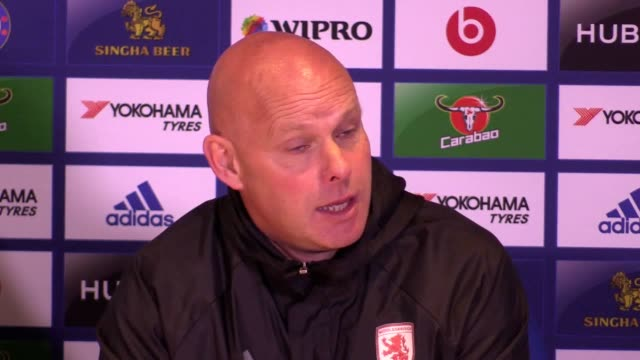 middlesbrough head coach steve agnew reflects on his side's season after their 30 defeat against chelsea which confirmed relegation from the premier... - middlesbrough stock videos and b-roll footage
