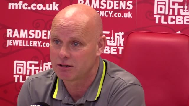 middlesbrough interim head coach steve agnew speaking at his prematch press conference on tuesday afternoon ahead of wednesday night's premier league... - middlesbrough stock videos and b-roll footage