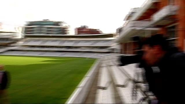 middlesex cricket club cancel trip to mumbai after terrorist attacks; england: london: kennington: ext members of middlesex county county cricket... - oval kennington stock videos & royalty-free footage