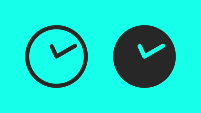 midnight time - vector animate - icon stock videos & royalty-free footage