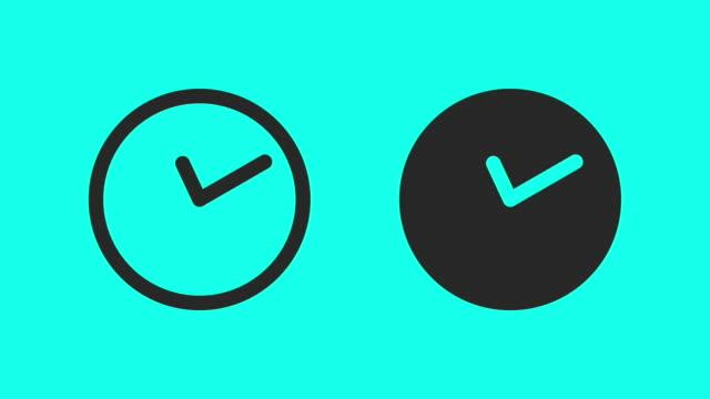 Middernacht tijd - Vector animatie