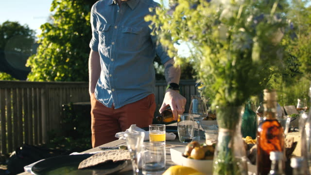midsummer dinner - bouquet stock videos & royalty-free footage