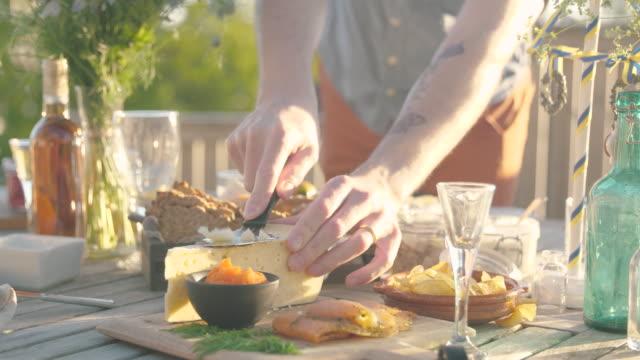 midsummer dinner - solstice stock videos & royalty-free footage