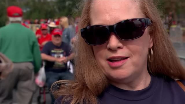 donald trump hosts rally in georgia; usa: georgia: ext taryn youngblood interview sot. - midterm election stock videos & royalty-free footage