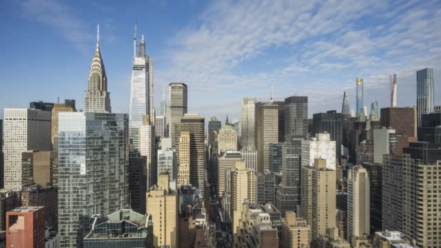 midtown manhattan cloud time lapse - new york - chrysler building stock videos & royalty-free footage