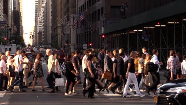 Midtown Manhattan Zebrastreifen Zeitlupe