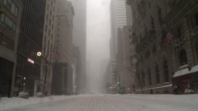 Midtown Manhattan during a snowstorm