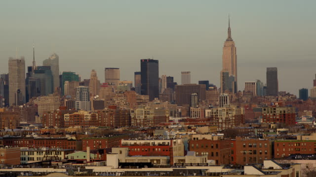 t/l midtown manhattan dusk-to-night viewed from hoboken / new york city - dusk to night stock videos and b-roll footage