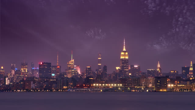 Midtown Manhattan. Empire State Building. Nacht