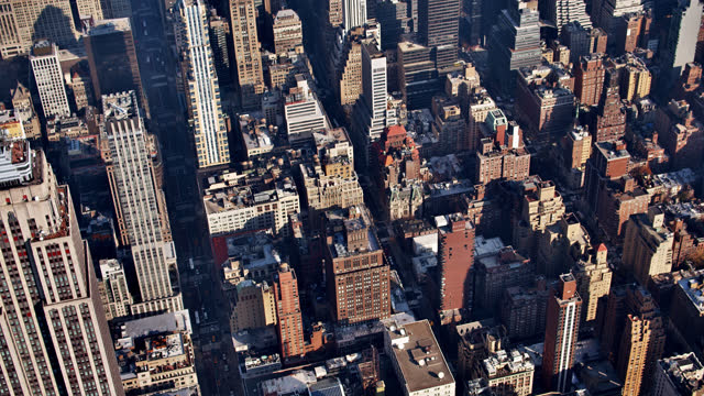 midtown manhattan. residential luxury building. financial office. aerial view. - roof stock videos & royalty-free footage