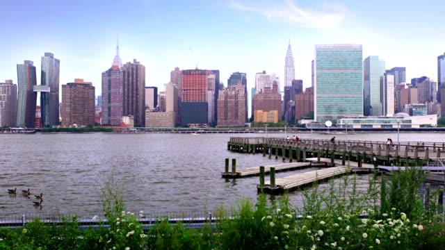 ミッドタウン ニューヨーク、都市スカイライン - マンハッタン点の映像素材/bロール