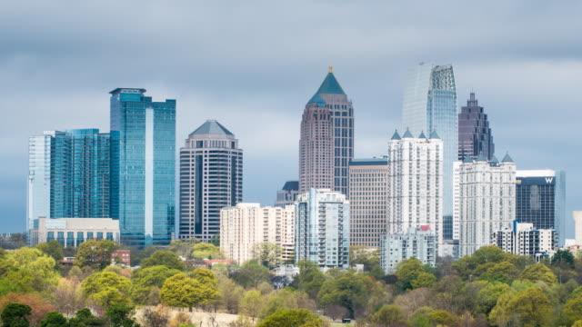 vídeos y material grabado en eventos de stock de midtown skyline from piedmont park, atlanta, georgia, united states of america - georgia estado de eeuu