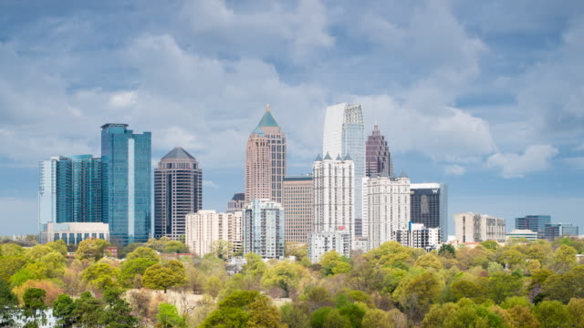 stockvideo's en b-roll-footage met midtown skyline from piedmont park, atlanta, georgia, united states of america - georgia us state