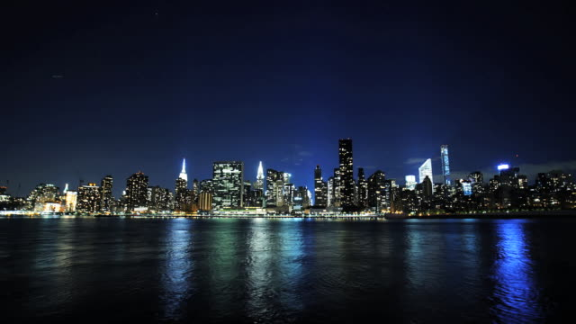 midtown time lapse - east river stock videos & royalty-free footage