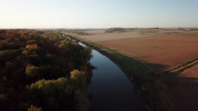 vídeos de stock e filmes b-roll de midwest autumn harvest scene 8 - iowa