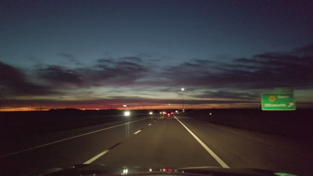 midwest plains missouri kansas and colorado dusk and night driving time lapse video series - american interstate stock videos & royalty-free footage