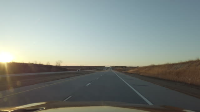 midwest plains missouri kansas and colorado dusk and night driving time lapse video series - day stock videos & royalty-free footage