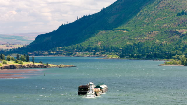 mighty columbia river with barge - anaheim california stock videos and b-roll footage