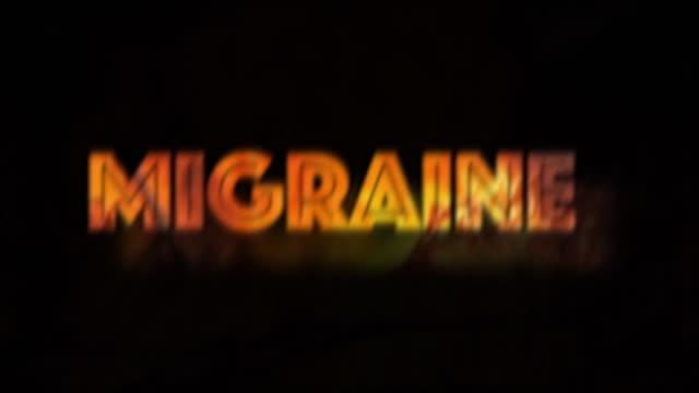 migraine headache illness infographic - nausea stock videos & royalty-free footage