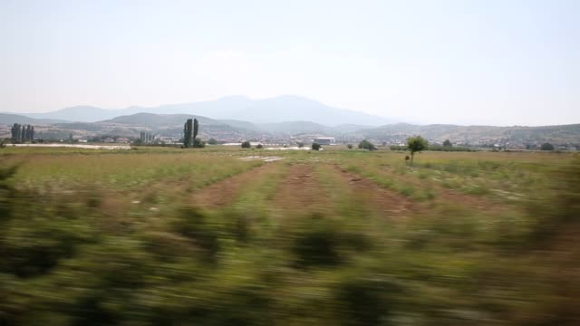 Migrant families ride a train from Gevgelija in Macedonia to the Serbian border on September 4 2015 in Macedonia After stopping at a Serbian...