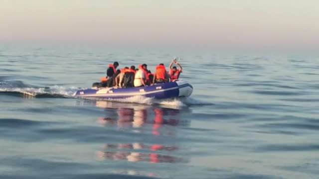 migrants attempting to cross the english channel and reach the uk - journey stock videos & royalty-free footage