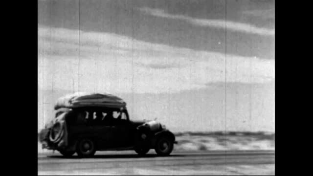 migrants leave farms during the dust bowl - dust bowl stock videos and b-roll footage