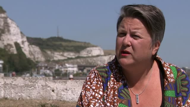 migrants must be 'returned to france' says priti patel as record set for channel crossings england kent dover ext bridget chapman interview sot - dover england stock videos & royalty-free footage