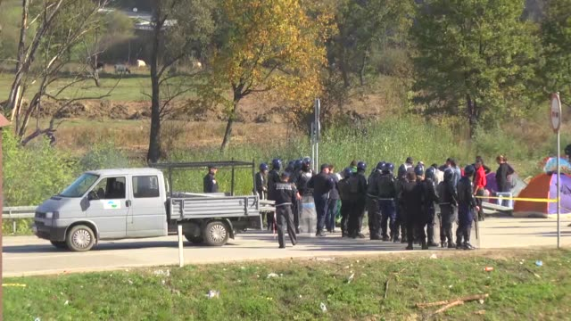 migrants who want to cross into croatia wait in the bosnian border town of velika kladusa on october 25 2018 the migrants have been camping at the... - bosnia and hercegovina stock videos & royalty-free footage