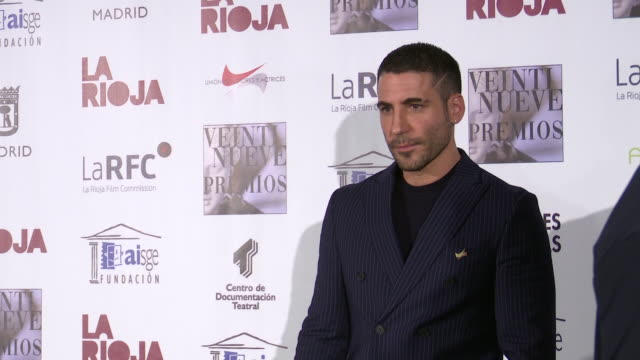 miguel angel silvestre attends the 29th 'union de actores' awards photocall at circo price in madrid, spain on mar 9, 2020 - silvestre bildbanksvideor och videomaterial från bakom kulisserna