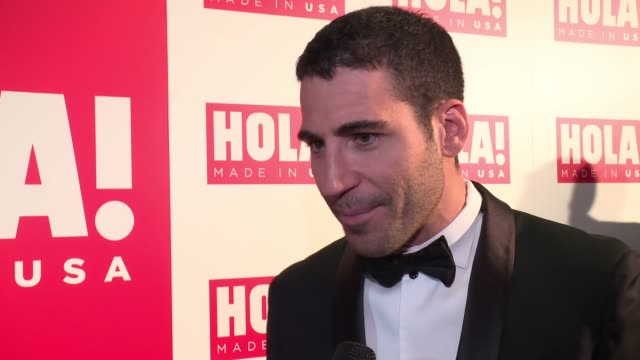 miguel angel silvestre on supporting the magazine at ¡hola! usa launch event at porcelanosa on september 29, 2016 in new york city. - silvestre stock videos & royalty-free footage