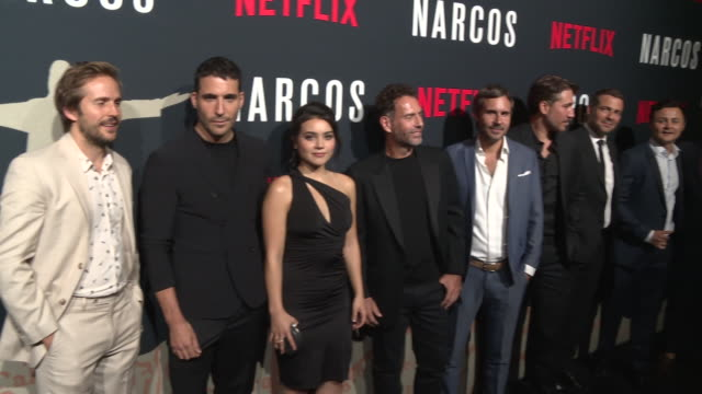 chyron miguel angel silvestre pedro pascal michael stahldavid and arturo castro at amc lincoln square theater on august 21 2017 in new york city - pedro pascal stock videos & royalty-free footage