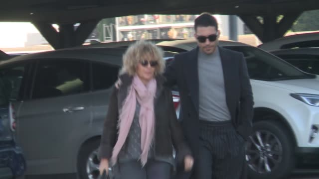 miguel angel silvestre vara and his mother maria lidon attend the funeral chapel for miguel angel silvestre vara - silvestre stock-videos und b-roll-filmmaterial