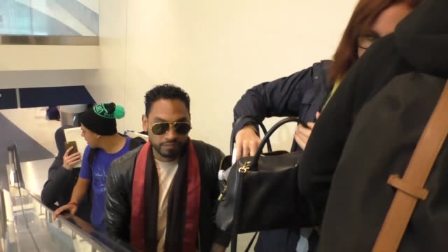 Miguel at Los Angeles International Airport at Celebrity Sightings in Los Angeles on March 11 2016 in Los Angeles California