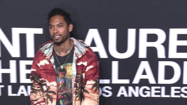 miguel at saint laurent event at hollywood palladium on february 10 2016 in los angeles california - hollywood palladium stock videos & royalty-free footage
