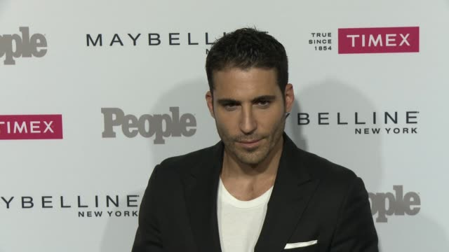 """miguel ángel silvestre at the people magazine's """"one's to watch"""" celebration at ysabel on september 16, 2015 in west hollywood, california. - silvestre stock-videos und b-roll-filmmaterial"""