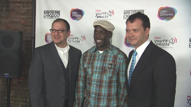 miguel salinas michael k williams and philip courtney at the black eyed peas at the peapod adobe youth voices academy launch at urban arts... - adobe material stock videos and b-roll footage