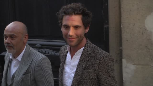 Mika arrives at the Valentino Haute Couture Fall Winter 2018/2019 show as part of Paris Fashion Week on July 4 2018 in Paris France