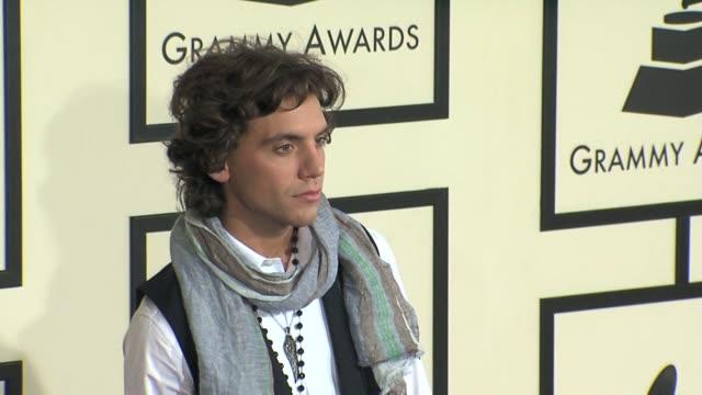 mika at the 50th annual grammy awards at los angeles california - グラミー賞点の映像素材/bロール