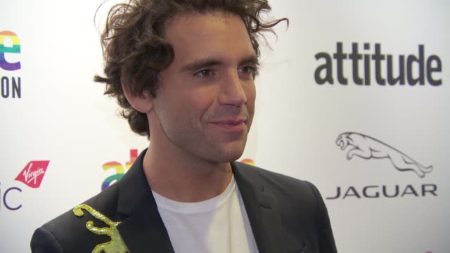 mika at virgin atlantic attitude awards powered by jaguar 2019 at the roundhouse camden at the roundhouse on october 9, 2019 in london, england. - attitude stock videos & royalty-free footage