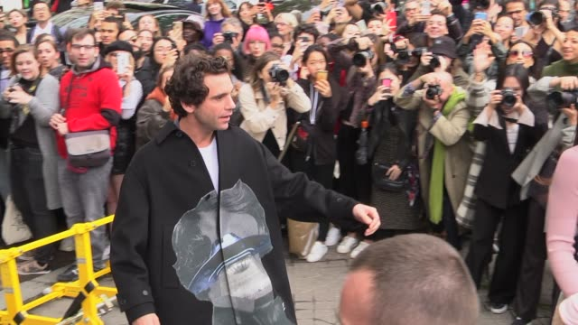 mika attends the valentino womenswear spring/summer 2020 show as part of paris fashion week on september 29 2019 in paris france - celebrity sightings stock videos & royalty-free footage