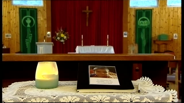 Mother due in court charged with his death Edinburgh Assistant Chief Constable Malcolm Graham speaking to press SOT INT Book of condolence in church...