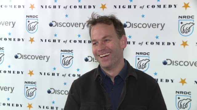 mike birbiglia at the natural resources defense council presents night of comedy benefit hosted by seth meyers at new york historical society on... - seth meyers stock videos and b-roll footage