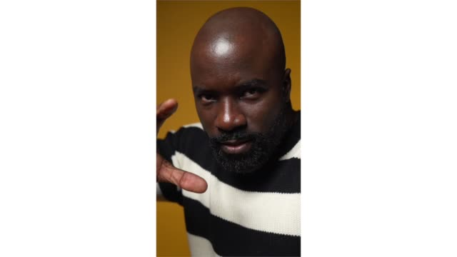 mike colter from 'before you know it' poses for a portrait in the pizza hut lounge in park city utah on january 27 2019 in park city utah - park city stock videos & royalty-free footage