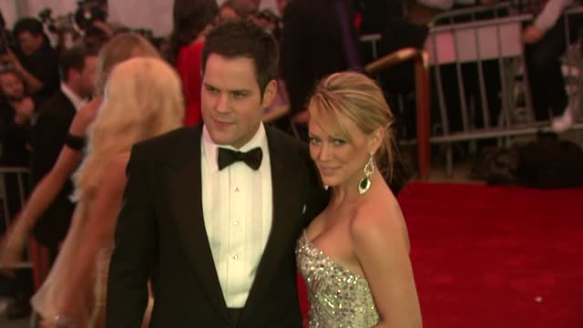 Mike Comrie and Hilary Duff at the Superheroes Fashion and Fantasy Costume Institute Gala at The Metropolitan Museum of Art at the Metropolitan...