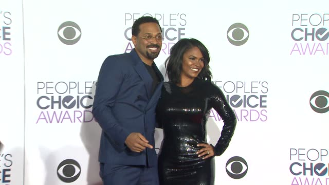 mike epps and nia long at the people's choice awards 2016 at nokia plaza la live on january 6 2016 in los angeles california - nia long stock videos and b-roll footage