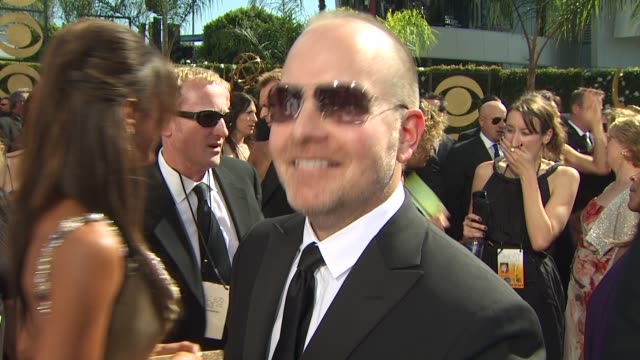 mike henry on family guy's nomination experiencing the emmys at the 61st annual primetime emmy awards arrivals at los angeles ca - annual primetime emmy awards stock-videos und b-roll-filmmaterial