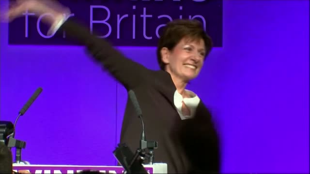 mike hookem denies punching colleague steven woolfe lib / bournemouth int ***beware diane james mep along on stage nigel farage on stage with diane... - diane james politik stock-videos und b-roll-filmmaterial