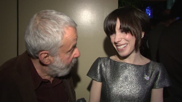 mike leigh and sally hawkins on receiving the award on the directorial process on the involvement and the collaboration between director and actress... - sally hawkins stock-videos und b-roll-filmmaterial