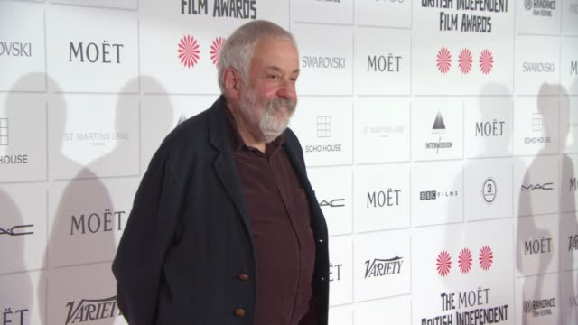 mike leigh at the moet british independent film awards 2014 at old billingsgate market on december 07 2014 in london england - audio electronics stock videos & royalty-free footage