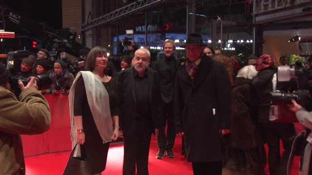 mike leigh, dieter kosslick at les adieux de la reine premiere: 62 berlin international film festival 2012 at berlinale palace on february 9, 2012 in... - nordland county stock videos & royalty-free footage